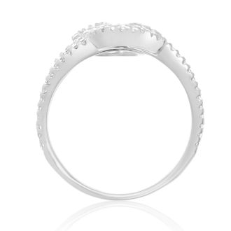CZ Wave Ring in Sterling Silver