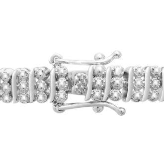 1ct Three Row Diamond Bracelet. Bold Three-Row.  Beautiful New Blowout Diamond Bracelet!