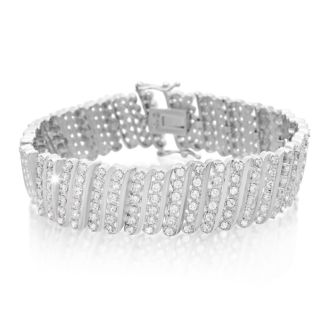 Treat Yourself To This 2 Carat Six Row Diamond Bracelet With Platinum Overlay. Everyone Loves This Wonderful Shimmery Bracelet!