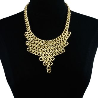 Gold V Shaped Chain Bib