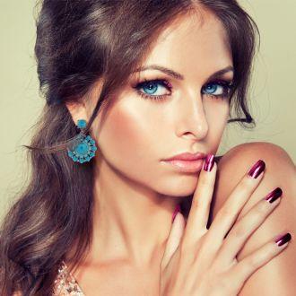 Spring Crystal Earrings, Turq