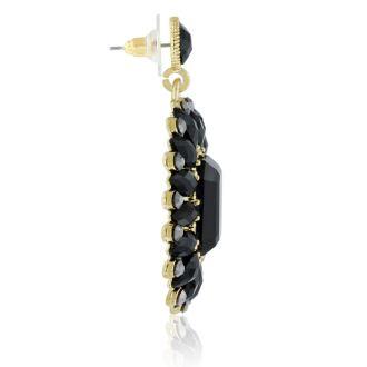 Passiana Midnight Crystal Earrings, Black