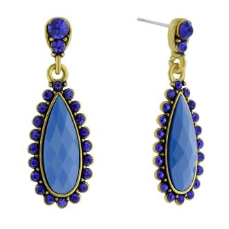 Drop Crystal Earrings, Blue