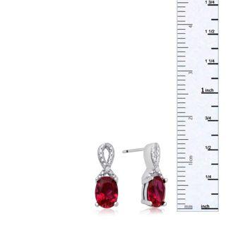 1 1/2 Carat Ruby and Diamond Ribbon Stud Earrings