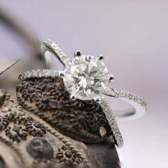 1.25ct Contemporary Diamond Engagement Ring