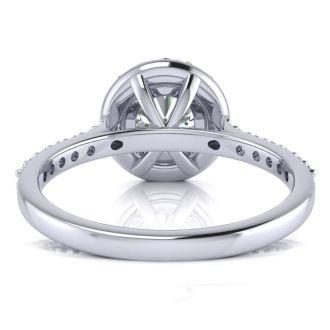 1 1/4 Carat Halo Diamond Engagement Ring in 14k White Gold
