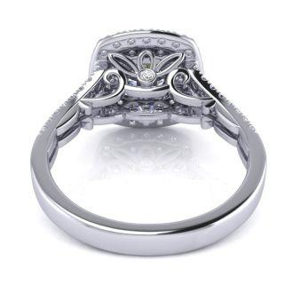 1 1/4 Carat Double Halo Diamond Engagement Ring in 14 Karat White Gold