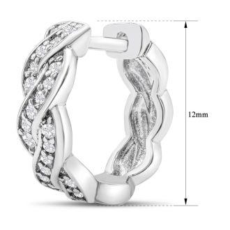 1/4ct Diamond Swirl Hoop Earrings.