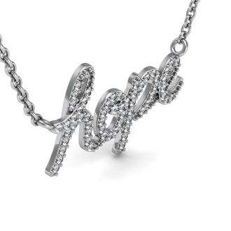 1/2 Carat Diamond Hope Necklace, Sterling Silver, 18 Inches
