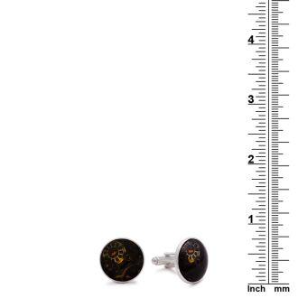 Octavius Marble Timepiece Cufflinks