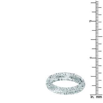14k White Gold 5mm Mesh Ring
