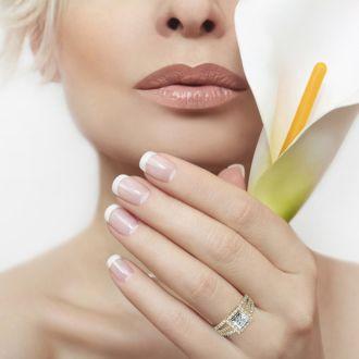 2 Carat Elegant Princess Cut Halo Diamond Engagement Ring In 14 Karat Yellow Gold