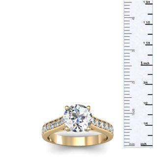 2 Carat Classic Engagement Ring With 1 1/2 Carat Center Diamond In 14K Yellow Gold