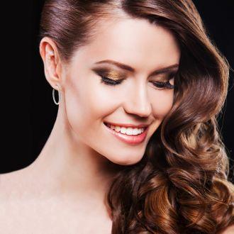 14K Rose Gold 3 Carat Diamond Three Quarter Hoop Earrings