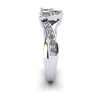 1/2 Carat Heart Shape Engagement Ring In White Gold