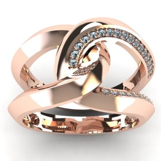 Super Bold And Gorgeous 1/4 Carat Diamond Band In 14K Rose Gold