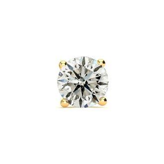 3/4 Carat Single Diamond Stud Earring In 14 Karat Yellow Gold