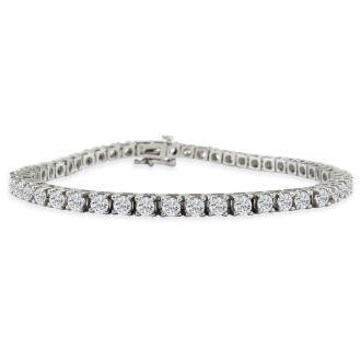 6 Carat Diamond Tennis Bracelet In 14 Karat White Gold