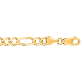 14 Karat Yellow Gold 6.0mm 8.50 Inch Diamond Cut Classic Figaro Chain