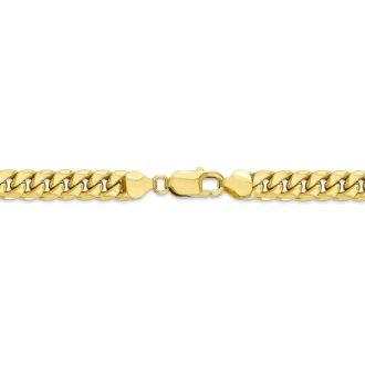 14 Karat Yellow Gold 5.40mm 22 Inch Light Miami Cuban Chain