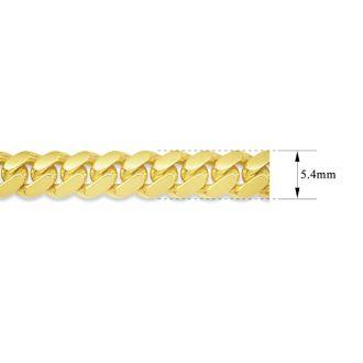 14 Karat Yellow Gold 5.40mm 24 Inch Light Miami Cuban Chain