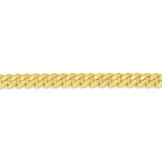 14 Karat Yellow Gold 6.50mm 8.50 Inch Light Miami Cuban Chain Bracelet