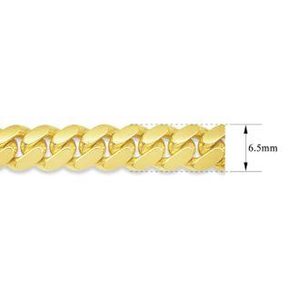 14 Karat Yellow Gold 6.50mm 24 Inch Light Miami Cuban Chain
