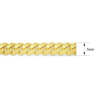 14 Karat Yellow Gold 5.0mm 8.50 Inch Miami Cuban Chain Bracelet