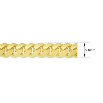 14 Karat Yellow Gold 5.80mm 24 Inch Miami Cuban Chain
