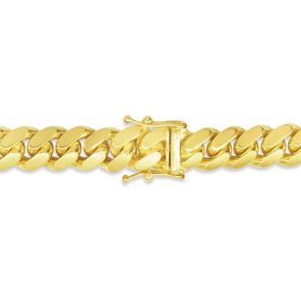 14 Karat Yellow Gold 6.70mm 24 Inch Miami Cuban Chain