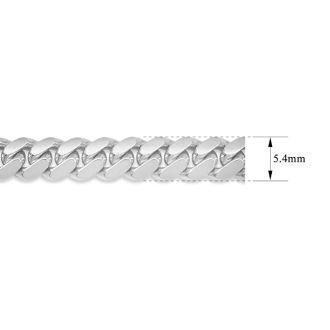 14 Karat White Gold 5.40mm 8.50 Inch Light Miami Cuban Chain Bracelet