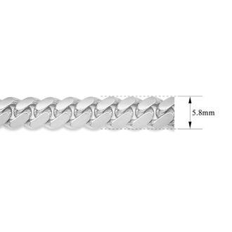 14 Karat White Gold 5.80mm 8.50 Inch Miami Cuban Chain Bracelet