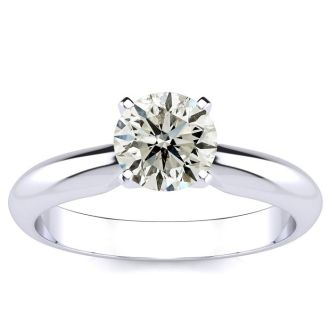 1 Carat Round Diamond Solitaire Ring in 14K White Gold. Our Lowest Priced, Very Popular, 1 Carat Engagement Ring!