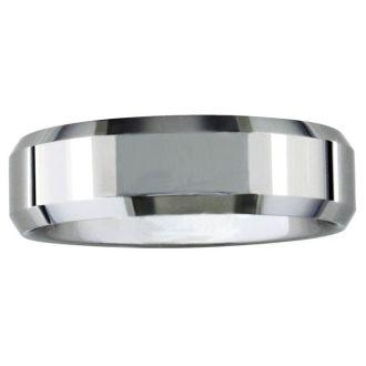 7mm Beveled Tungsten Men's Wedding Band