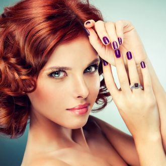 1 3/4 Carat Garnet and Halo Diamond Ring In 14 Karat White Gold