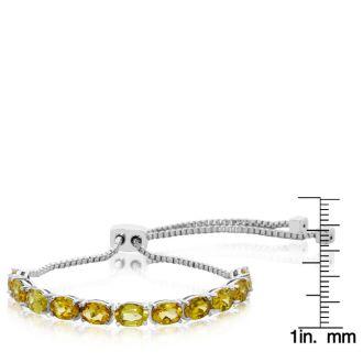 7 Carat Citrine Adjustable Bolo Slide Tennis Bracelet