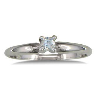 .10ct Diamond Promise Ring in 10k White Gold