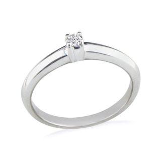 .06ct Diamond Promise Ring 10k White Gold