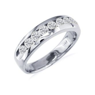 1ct Round Diamond Band in 14k White Gold At A Fantastic Price!