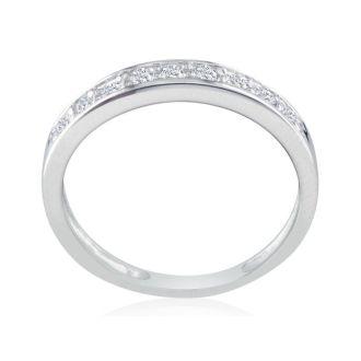 1/4ct Diamond Band in 10k White Gold