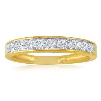 1/4ct Diamond Band in 10k Yellow Gold