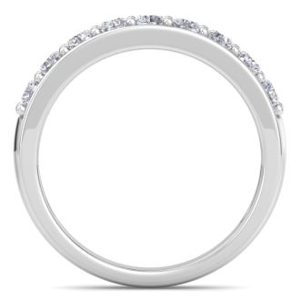 Very Popular 2/3ct Diamond Band in White Gold. Fiery, Natural Earth-Mined Diamonds. Ring Sizes 3.5 to 10.5 Available