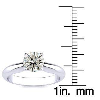 1 Carat Round Shape Diamond Solitaire Ring In Platinum