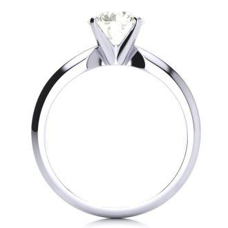 1 1/2 Carat Round Diamond Engagement Ring in 14K White Gold