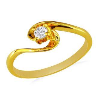 The Perfect 10k Yellow Gold Diamond Promise Ring