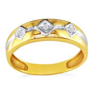Mens Diamond Band in 10k Yellow Gold