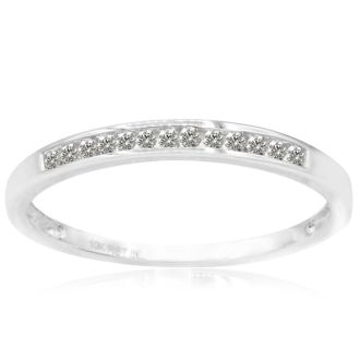 1/8ct Channel Set Diamond Band in White Gold. Very Limited At This Price
