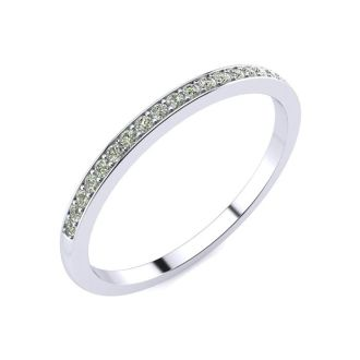 1/10ct Pave Diamond Wedding Band. All Sizes Available!