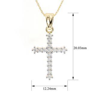 The Classic 1/4ct Diamond Cross Pendant in 10k Yellow Gold