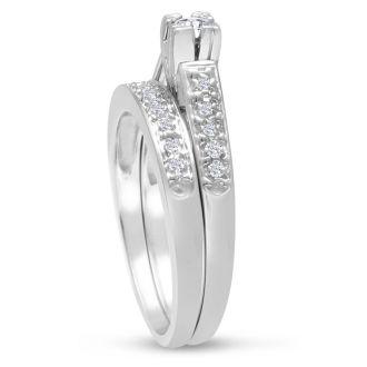 1/4ct Ladies Traditional Diamond Bridal Set in 10k White Gold